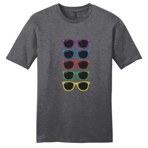 Heathered Charcoal Colorful Sunglasses T-Shirt