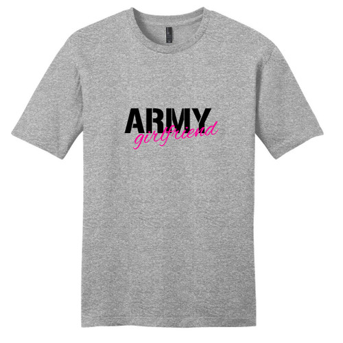 Light Heathered Gray Army Girlfriend T-Shirt