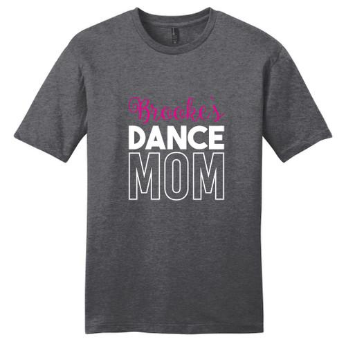 Heathered Charcoal Custom Name Dance Mom T-Shirt