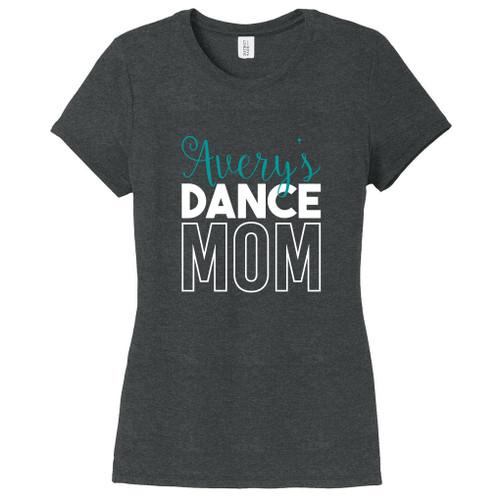 Black Frost Custom Name Dance Mom Women's Fitted T-Shirt