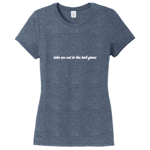 Navy Frost Take Me Out To The Ball Game Women's Fitted T-Shirt