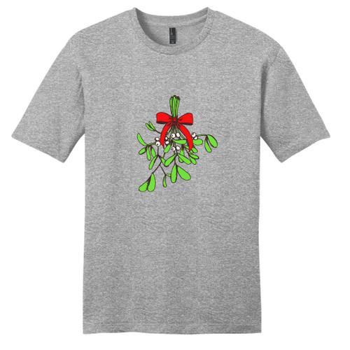 Light Heathered Gray Mistletoe T-Shirt