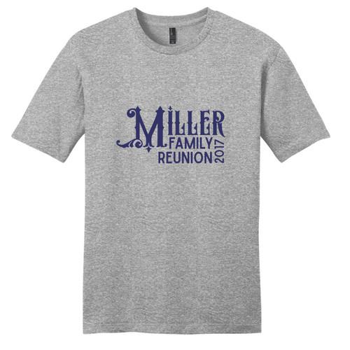 Light Heathered Gray Custom Family Reunion T-Shirt