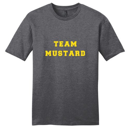 Heathered Charcoal Team Mustard T-Shirt