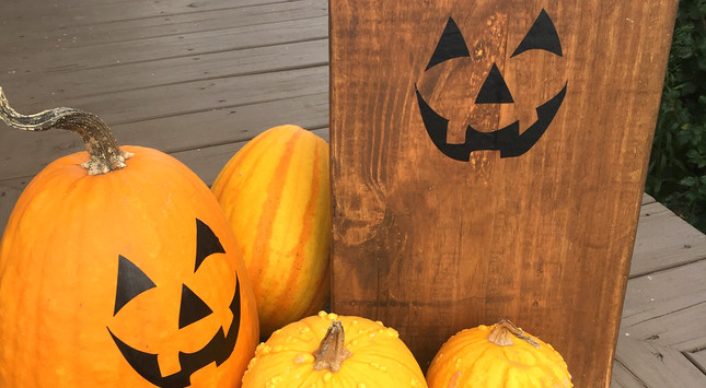 Jack-O'-Lantern decal project ideas