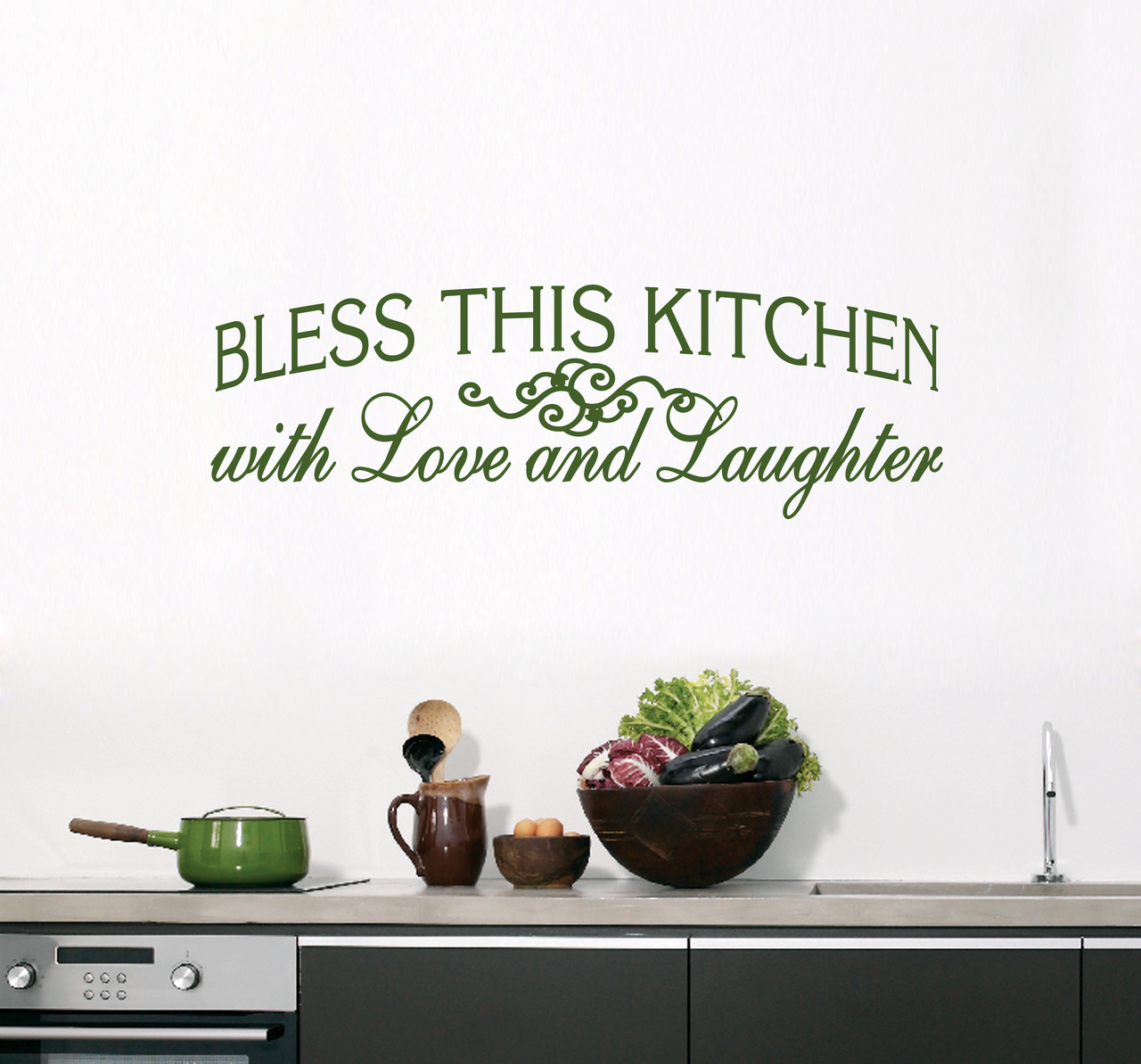 Bless this kitchen wall decals wall art wall murals bless this kitchen wall decals 50 wide x 16 tall sample image amipublicfo Choice Image