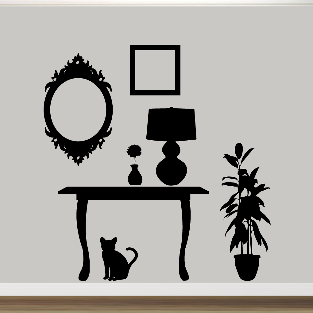 Furniture silhouettes wall decals wall decor stickers furniture silhouettes wall decals wall stickers large sample image amipublicfo Image collections
