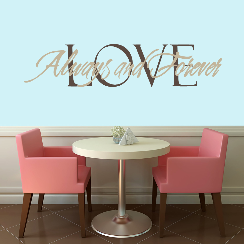Love always and forever wall decals home dcor wall decals love always and forever wall decals and wall stickers amipublicfo Choice Image