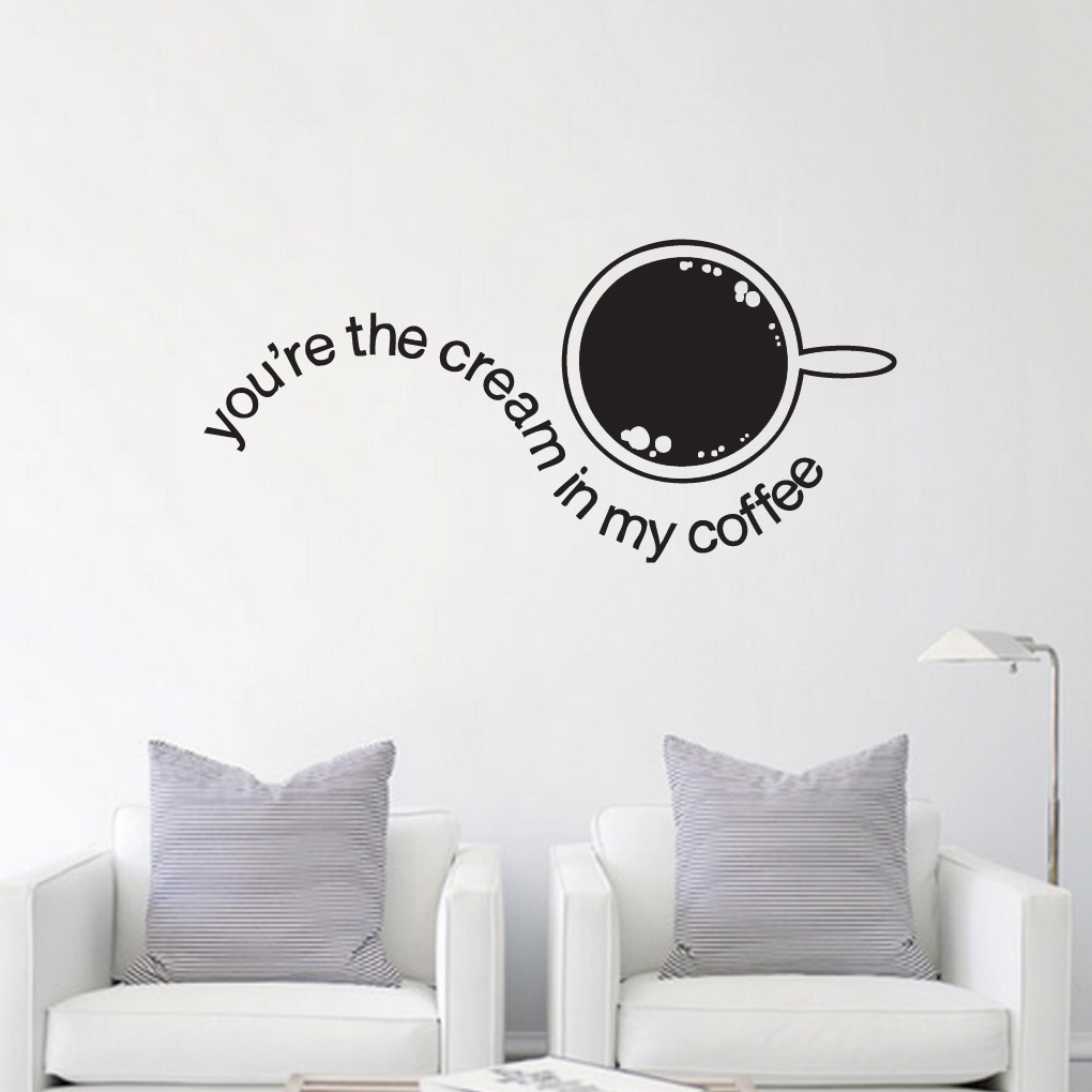 Youre the cream in my coffee kitchen wall decals and stickers youre the cream in my coffee wall decals and wall stickers amipublicfo Images