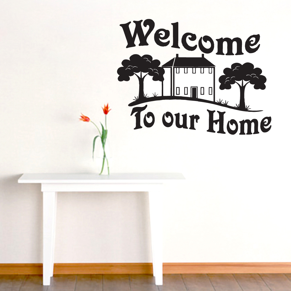 Welcome to our home entryway wall decals and stickers welcome to our home wall decals and stickers amipublicfo Gallery