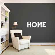 "Home Wall Decals 36"" wide x 10"" tall Sample Image"