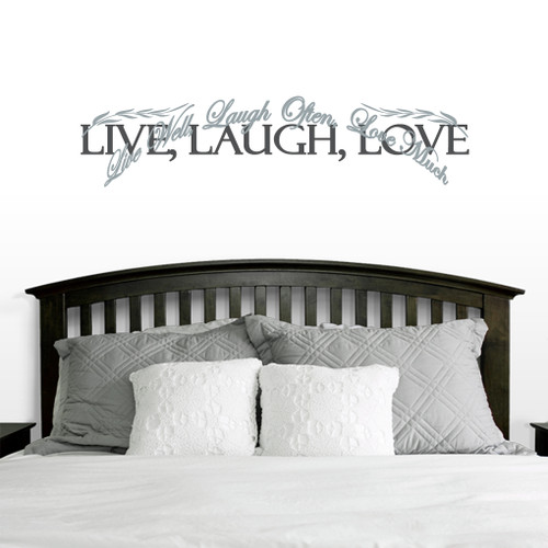 Layered Live Laugh Love Wall Decals Wall Decor Stickers - Wall decals live laugh love