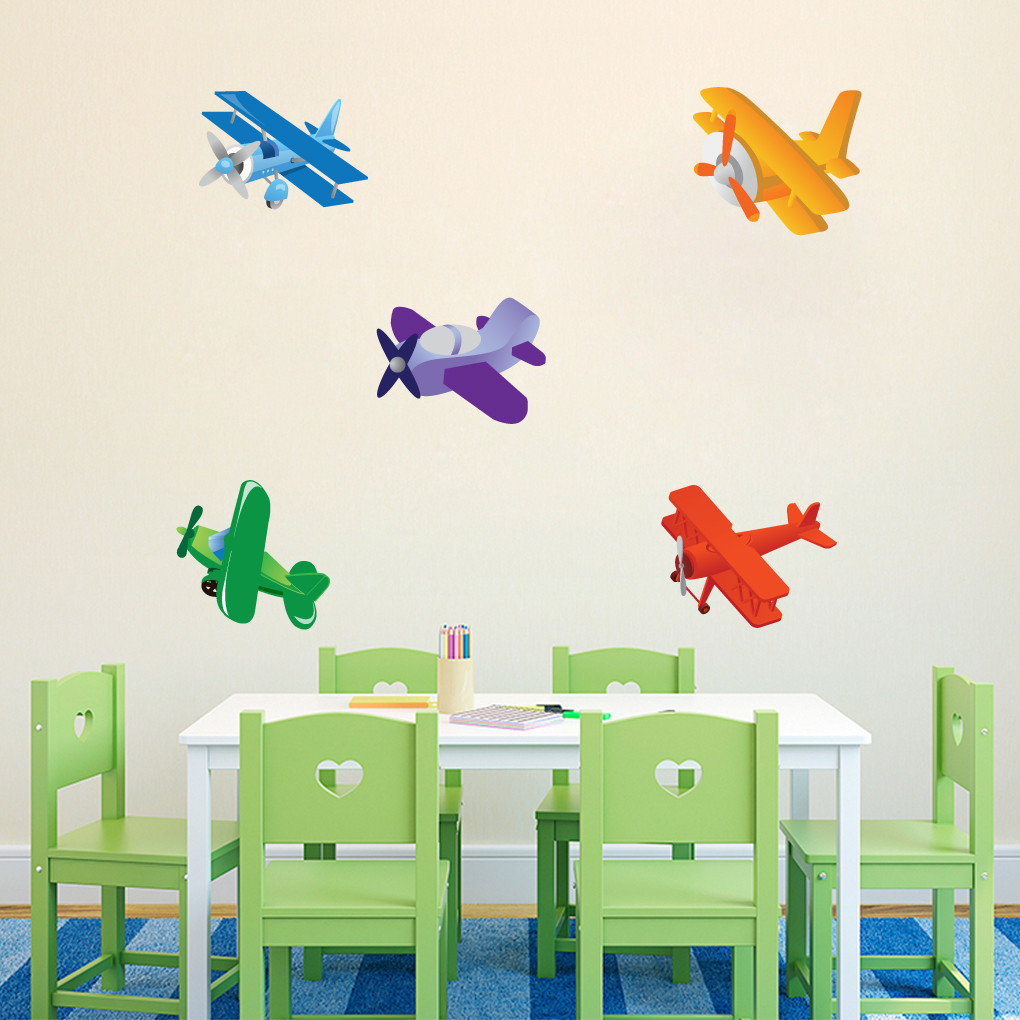airplanes printed wall decals wall art wall murals