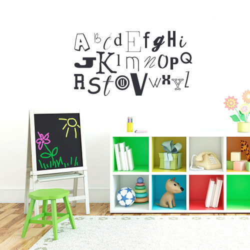 "Alphabet Wall Decals 40"" wide x 22"" tall Sample Image"