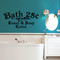 """Bath 25¢ Towel & Soap Extra Wall Decals 48"""" wide x 24"""" tall Sample Image"""