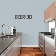 "BEER:30 Wall Decal 24"" wide x 6"" tall Sample Image"