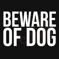 Beware Of Dog Vehicle Decal Wall Stickers