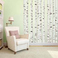 Birch Trees Printed Wall Decals Large Sample Image