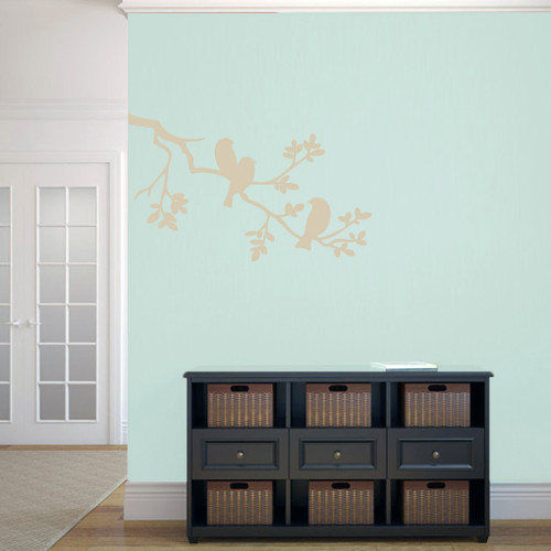 """Birds On A Branch Wall Decals 36"""" wide x 22"""" tall Sample Image"""