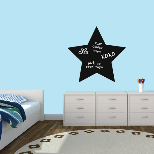"Chalkboard Star Wall Decals 24"" wide x 23"" tall Sample Image (writing not included)"