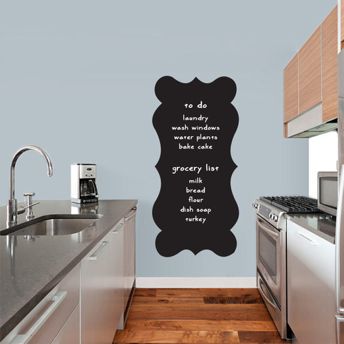 """Fancy Chalkboard Wall Decals 23"""" wide x 48"""" tall Sample Image (writing not included)"""
