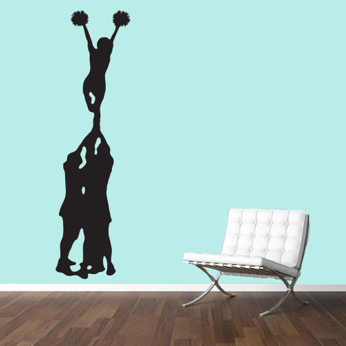 Cheerleader mount wall decals wall art wall murals for Cheerleader wall mural