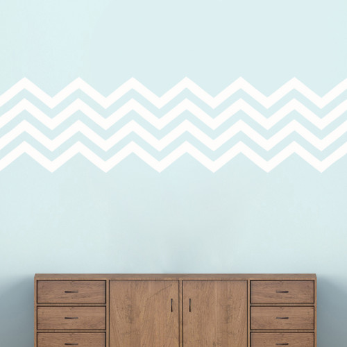 "Chevron Stripes Wall Decals 62"" wide x 17"" tall Sample Image"