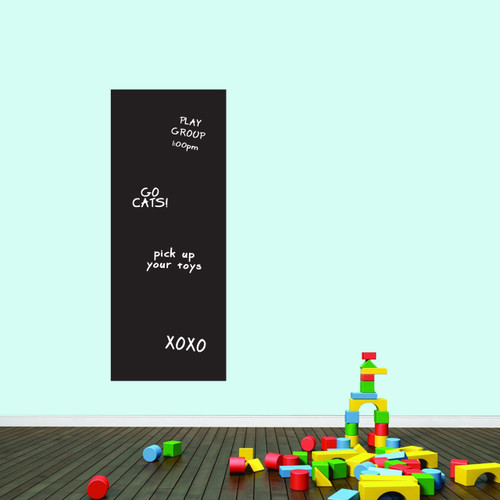 """Narrow Chalkboard Wall Decals 19"""" wide x 48"""" tall Sample Image (writing not included)"""