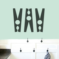 Set Of Clothespins Wall Decals Medium Sample Image