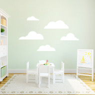 Clouds Wall Decals Large Sample Image