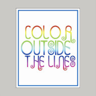 Color Outside the Lines - Wall Art Prints and Wall Decals