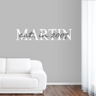 Custom Name With Year Wall Decals and Stickers