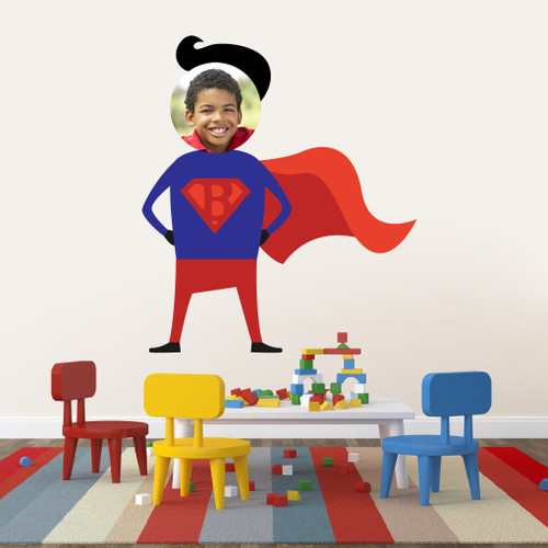 Custom Superhero Photo Wall Decals and Stickers