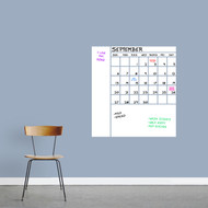 "Dry Erase Calendar With Notes Wall Decals 28"" wide x 30"" tall Sample Image (Writing Not Included With Purchase)"