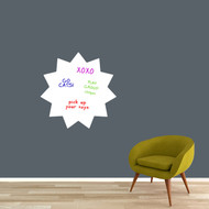 "Dry Erase Starburst Wall Decals 23"" wide x 23"" tall Sample Image (writing not included)"