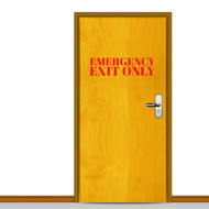 Emergency Exit Only Wall Decals and Stickers