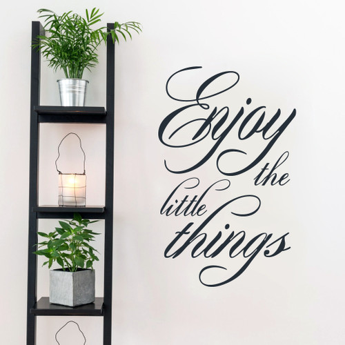 """Enjoy The Little Things Wall Decals 22.5"""" wide x 36"""" tall Sample Image"""
