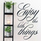 """Enjoy The Little Things Wall Decals 30"""" wide x 50"""" tall Sample Image"""