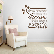 "Wake Up With A Purpose Wall Decals  48"" wide x 45"" tall Sample Image"