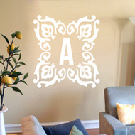 Fancy Frame Monogram Wall Decals and Stickers