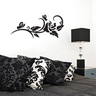Rose Stem Flourish Wall Decals and Stickers