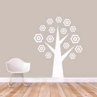 "Flower Tree Wall Decals 48"" wide x 60"" tall Sample Image"