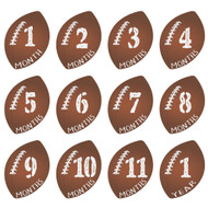 Football Monthly Baby Milestone Onesie Stickers Wall Stickers