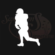 Running Football Player Vehicle Decals Wall Stickers