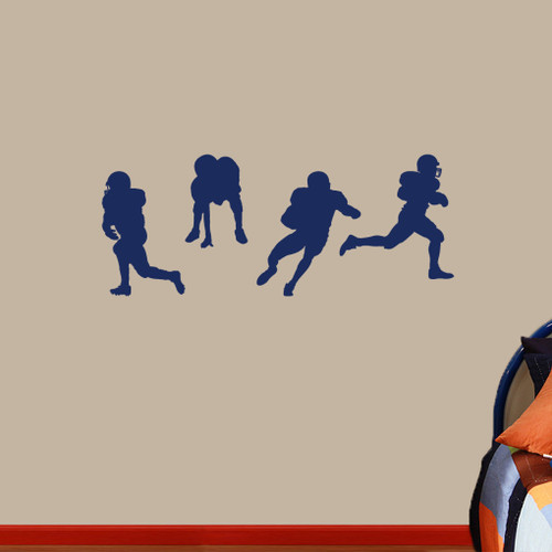 football players wall decals wall decor stickers football soccer ball broken wall stickers tv background