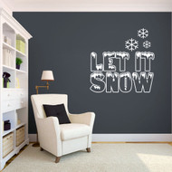 Let It Snow - Wall Decals