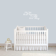 "From Small Beginnings Wall Decals 24"" wide x 12"" tall Sample Image"