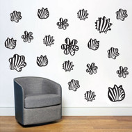Zebra Print Shapes Wall Decals and Stickers
