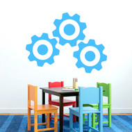Set of Gears Wall Decals Large Sample Image