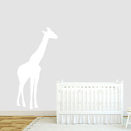 "Giraffe Silhouette Wall Decals 30"" wide x 60"" tall Sample Image"